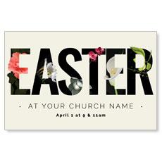 Easter Flower Letters Postcard