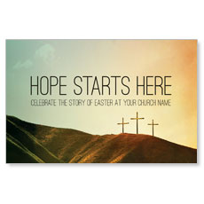 Hope Starts Here Calvary Postcard