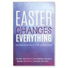 Purple Easter Changes Postcard