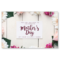 Mothers Day Note Flowers Postcard