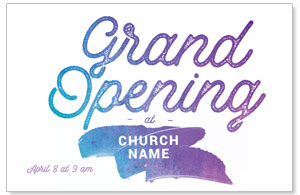Grand Opening Paint Postcards