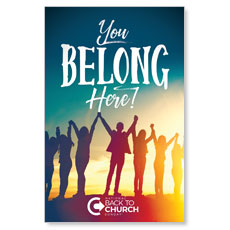 BTCS You Belong Here Postcard