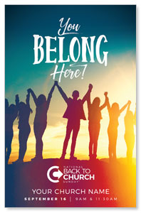 BTCS You Belong Here Postcards