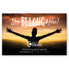 BTCS You Belong Here Open Arms Postcard