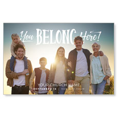 BTCS You Belong Here Family Postcard