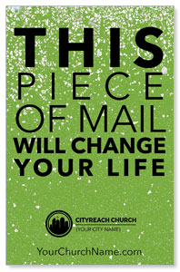 CityReach Green Pebble Fade Postcards