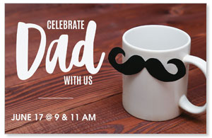 Dad Mustache Mug Postcards