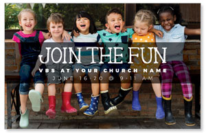 Kids Join the Fun Church Postcards