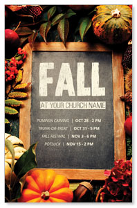Fall Events Chalkboard 4/4 ImpactCards