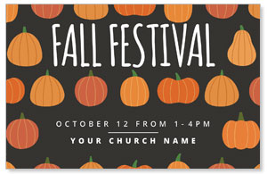 Pumpkins Fall Festival Postcards