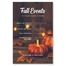 Fall Events Gold Lights