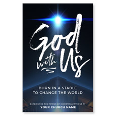 God With Us Stable Postcard