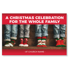Family Christmas Socks Postcard