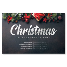 Christmas Trimmings Slate Postcard