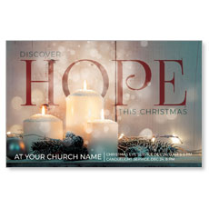 Candles Hope Postcard