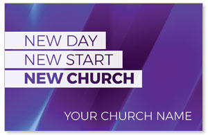 New Church Purple Church Postcards