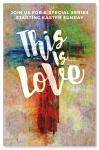 This is Love Easter Church Postcards