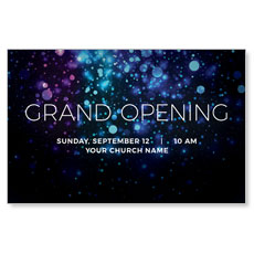Grand Opening Shimmer Church Postcard