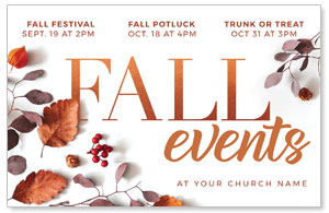 Fall Events Nature 4/4 ImpactCards