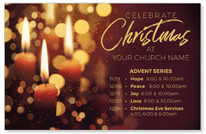 Celebrate Christmas Candles 4/4 ImpactCards