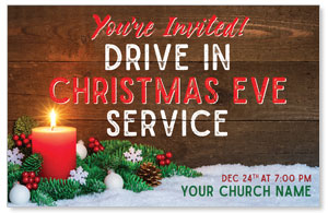 Drive In Christmas Candle 4/4 ImpactCards