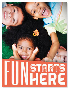 Fun Starts Here InviteCards