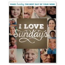 I Love Sundays InviteCard