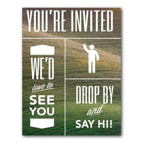 Phrases Welcome InviteCards