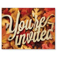 Invited Leaf Pile InviteCard