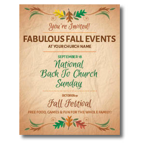 Fabulous Fall InviteCards