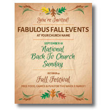 Fabulous Fall InviteCard