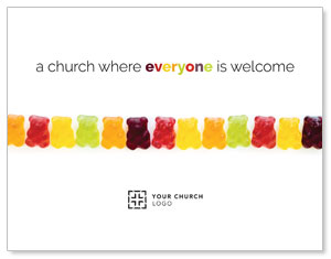 Gummi Bear Welcome InviteCards