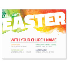 Celebrate Easter Events InviteCard