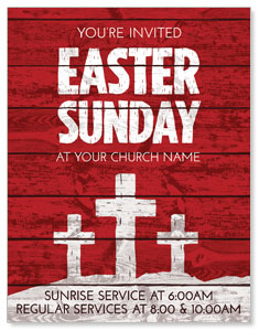 Easter Wood Red ImpactMailers