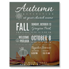 Autumn Activities InviteCard