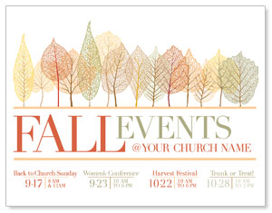 Fall Events Leaves InviteCards