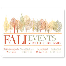 Fall Events Leaves InviteCard