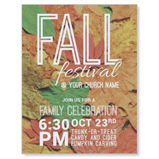 Fall Festival Leaves InviteCard