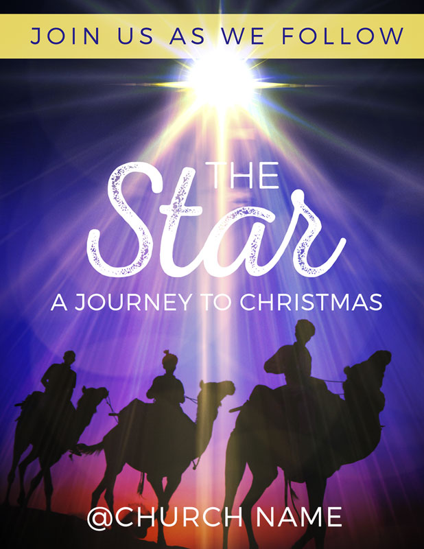 The Star A Journey to Christmas InviteCard - Church Invitations ...