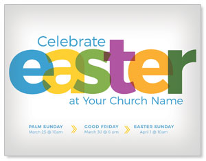 Color Bold Easter InviteCards