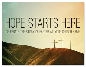 Hope Starts Here Calvary InviteCards