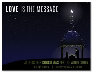Love Is the Message InviteCards