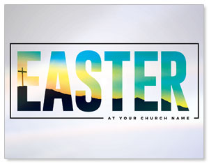 Bold Easter Calvary Hill InviteCards