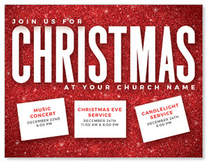 Red Glitter Christmas ImpactMailers