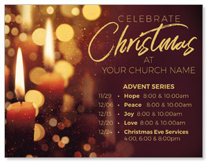 Celebrate Christmas Candles ImpactMailers