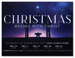 Begins With Christ Manger ImpactMailers