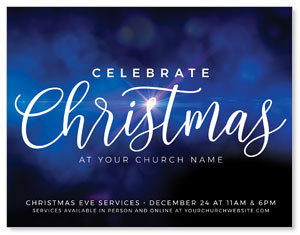 Celebrate Christmas Blue Sparkle ImpactMailers
