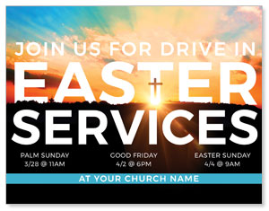 Drive In Easter Services ImpactMailers