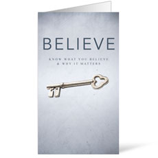 Believe Now Live the Story InviteCard