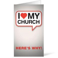 I Love My Church InviteCard